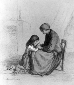 Pierre-Édouard_Frère_-_Child_Praying_at_Mother's_Knee_-_Walters_371330