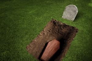 Coffin-in-ground